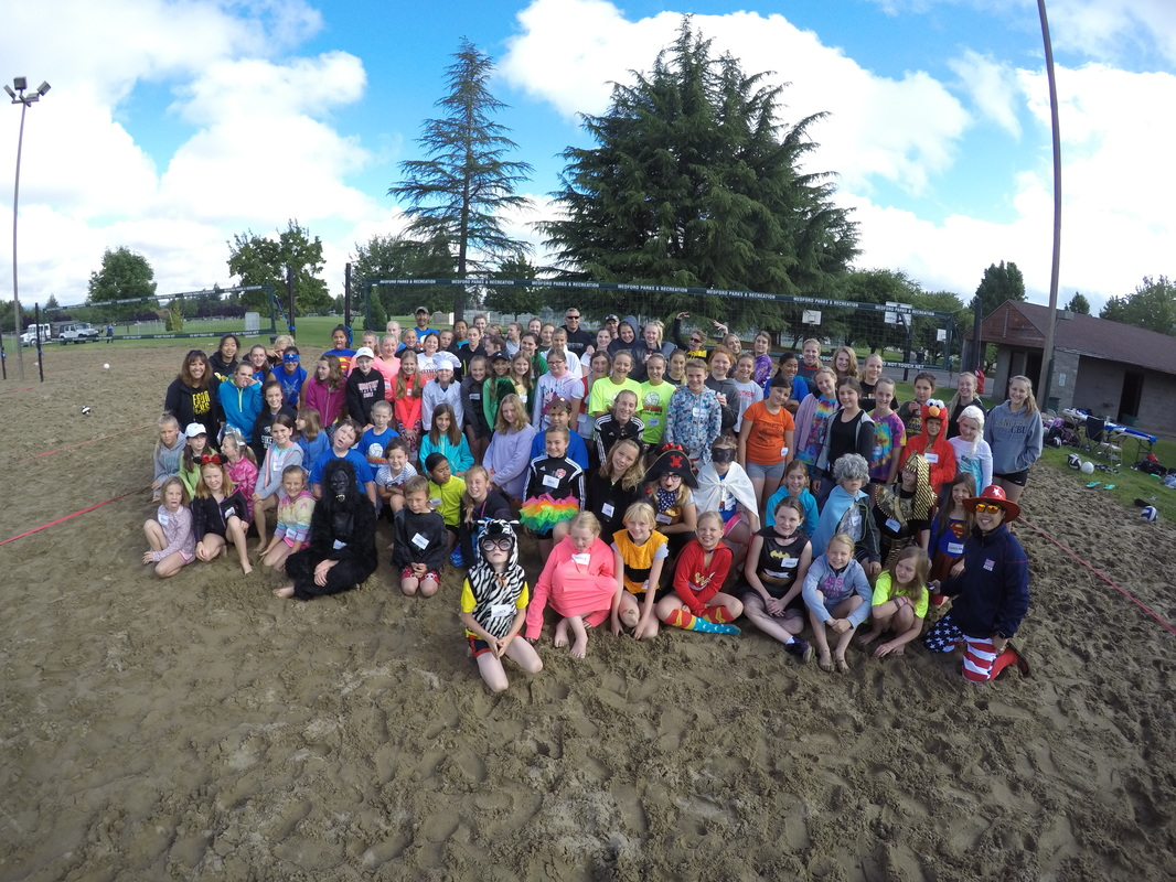 2016 Sand Blast Volleyball Camp Group Shot